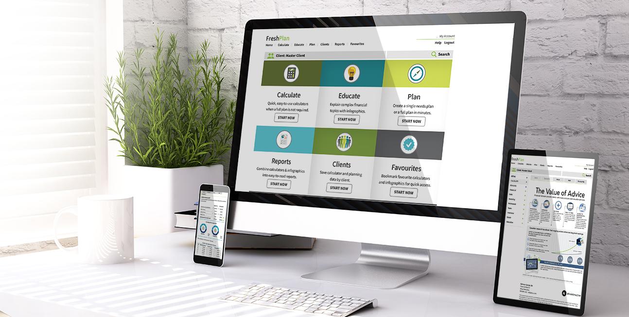 FreshPlan Financial Planning Software Responsive